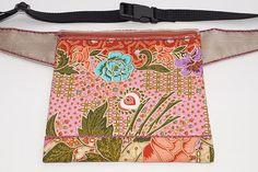 Pink flower bag hip bag waist bag belt bag fanny