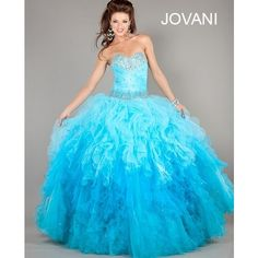 Jovani Ballgown Style {Under the Sea Quinceanera Theme} ❤ liked on Polyvore featuring dresses