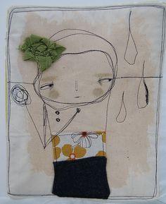 Elle---mini art quilt