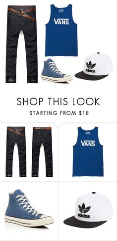 """Untitled #21"" by michelle-589 on Polyvore featuring Vans, Converse, adidas, men's fashion and menswear"