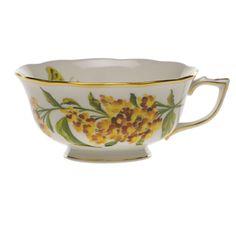 Herend American Wildflowers Butterfly Weed Tea Cup