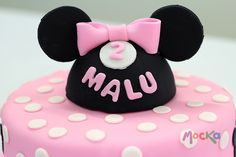 #Torta de #MinnieMouse   www.mocka.co  #mocka #pastelería #cake #cakeshop #mickey #minnie #disney #ponque #pastel #ponqueinfantil #tortainfantil