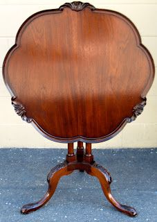 """The Craftsman: 'Pie Crust' Tilt-Top Table    OH MY GOODNESS!!!  Favorite """"odd"""" table  in the world!"""