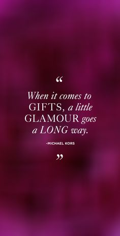 There's no such thing as too much glamour.