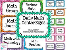 Second Grade Math Maniac: Daily Math Center FREEBIE!