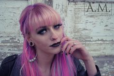 #pinkhair #pastelpink #limecrime #model #modeling #photography #lipstick #makeup #goth #pastelgoth #gothbarbie #blacklipstick #darklipstick #grunge