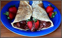 Crepes with Peanut Butter & Chocolate Filling