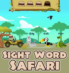 Being able to read sight words is important at an early age. Practicing this skill will help young students put words together to form phrases. Sight Word Safari is one of our fun online sight word games for kindergarten that offers several word lists (such as Dolch and Fry). Listen for each word, then click on the correct animal. Once you find enough correct words, you'll get to pick a friend to join you on your safari. Sight Word Games, Sight Words, Kindergarten Games, Educational Games For Kids, Safari, Students, Join, Age, Animal