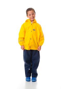 Rukka yellow rain anorak and navy overtrousers Jung In, Rain Hat, Waterproof Coat, 19 Kids, Dungarees, Kind Mode, Rain Jacket, Windbreaker, Trousers