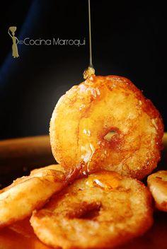 Nueva Cocina Marroqui: Aros de manzana con Amlou