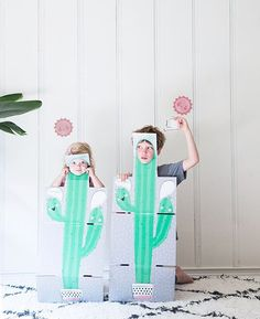 Guess where these cute cutouts are from? The inside of @minted boxes! Smartest thing...starting July 4th when you order something from @minted selected boxes unfold into a cute scene for creative play designed by a Minted designer. So cute! My favorites are these cactus and the hot dogs. A great way to get more use out of those packaging boxes #mintedbox #ad