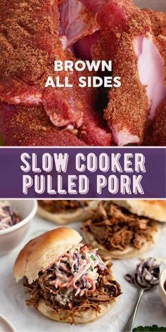 Authentic Mexican Recipes, Mexican Food Recipes, Pulled Pork Recipes, Pulled Pork Recipe Slow Cooker, Easy Crockpot Pulled Pork, Sauce For Pulled Pork, Crockpot Pork Shoulder Recipes, Bbq Pulled Pork Crockpot, Pork Shoulder Crock Pot