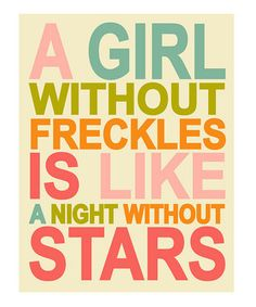 Pink & Cream 'A Girl Without Freckles' Print - zulily!