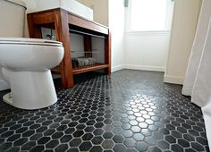 Small Bath Remodel Part Dos Black Tile Bathroomstile Bathroom Floorstile