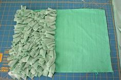 how to: shag pillow BUT on a larger scale could easily be made into a rug.