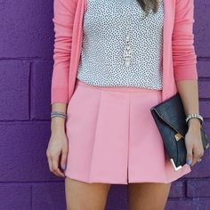 You could have an equally cute outfit using pink jeans instead of a mini (which I can't wear).