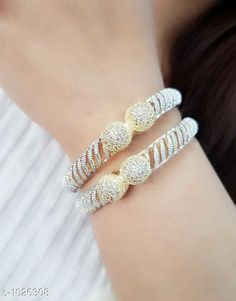 Bangles & Bracelets Trendy American Diamond Bangle  *Material* American Diamond  *Size* 2.4 , 2.6 , 2.8 , 2.10  *Description* It Has 1 Pair Of Bangle  *Work* Stone Work  *Sizes Available* 2.4, 2.6, 2.8, 2.10 *    Catalog Name: Valentine'S Day Special: Stylish Elegant American Diamond Bangles CatalogID_124001 C77-SC1094 Code: 392-1026308-