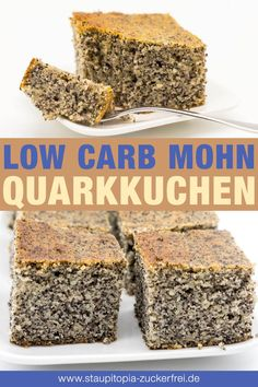 Low carb poppy seed quark cake- Low Carb Mohn-Quark-Kuchen This low carb curd cake with poppy seeds is my new … - Healthy Dessert Recipes, Keto Snacks, Low Carb Recipes, Desserts, Dinner Recipes, Diabetic Snacks, Law Carb, Comida Keto, No Carb Diets