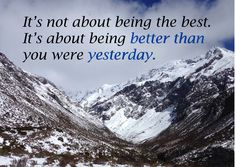 How can you improve on yesterday? #MotivationMonday