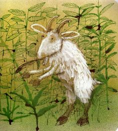 This illustration reminds me of my favorite childhood book..Dr. Goat