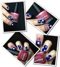 Australia Nails!!  Fashion Polish: Picture Polish Blog Fest 2012 : Kryptonite & Dorothy! Picture Polish, Nail Polish, Nail Art, Glitter, Australia, Nails, Fingers, Blog, Pictures