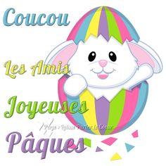 Coucou les Amis, <strong>Joyeuses Pâques</strong> #joyeusespaques joyeuses paques lapin mignon oeuf
