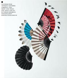 Duvelleroy SS15 hand-fan collection by Coralie Marabelle,WALLPAPER. PHOTOGRAPHY: JOHN SHORT, REGAN/GREY