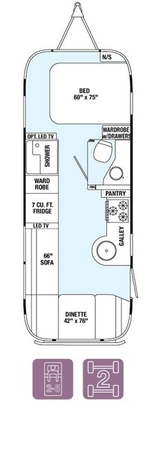 Floor Plans - Flying Cloud 25FB