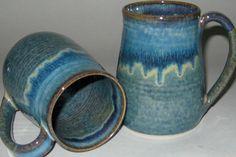 Pottery Mug XL 20 oz in Plum Blue Handmade by ConchoCreekPottery, $24.95