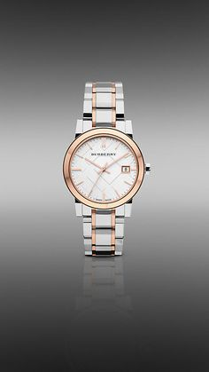 Love this watch! Burberry - 34MM ROSE GOLD-PLATED TWO TONE WATCH <-- This watch is truly stunning. $595