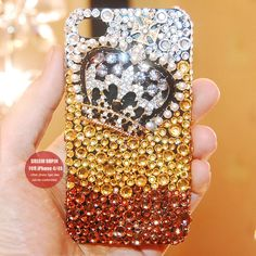Crown phone cover Aldine phone case for iPhone4 and iPhone 4S(1 pcs). $29.00, via Etsy.