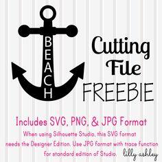 Beach anchor, free cut file