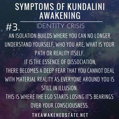 Symptoms of Kundalini Awakening Feeling lost/Confused/ Having an Identity CrisisThis is not only just a feeling of loneliness, it is a feeling of confusion about what is truth and what is real. It becomes not only hard to relate to others but. Feeling Of Loneliness, Symptoms Of Loneliness, Dissociation, Spiritus, Kundalini Yoga, Tantra, Spiritual Inspiration, Spiritual Growth, Spiritual Health