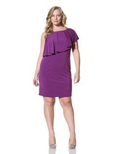Suzi Chin Women's Plus Sleeveless Fly Away Sheath Dress (Grape Jelly)  LOVE PURPLE
