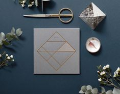 Grey stock and gold foil love by Kristina Krogh.