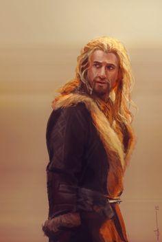 Male Dwarf with orange hair - by Euclase on Tumblr.