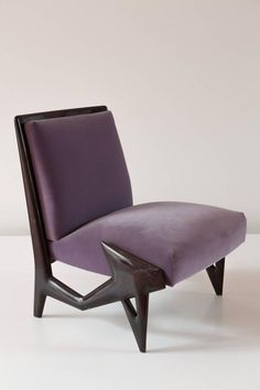 Gorgeous, Extraordinary Purple Chairs and Sofas   rickysturn/home-styling. Unique Ico Parisi Lounge Chairs, 1950