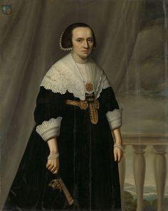 Dirck Dircksz. of Santvoort, Portrait of Machteld Bas (- 1681), after 1650