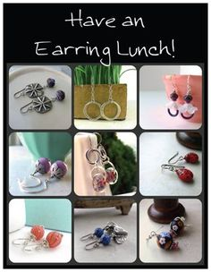 Earring Lunch, which involves a quick trip to a business or doctor's office during their lunch time and bringing baskets of earrings for the ladies to peruse.  It's a quick way to get your most affordable jewelry in front of customers.  It takes a minimum of set up and time, and is a great way to get your web site and blog information to a captive audience.