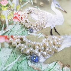 # Handmade # natural wheat pearls ~