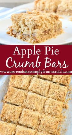 Easy to make Apple Pie Crumb Bars are the perfect dessert for Thanksgiving or Christmas and a family favorite!