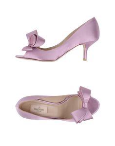 Valentino - Purple Pumps with Open Toe - Lyst Peep Toe Wedding Shoes, Peep Toe Heels, Bridal Shoes, Hot Heels, Valentino Pumps, Valentino Women, Valentino Garavani, Purple Pumps, Green Shoes