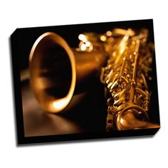 SaxophonePhoto 16x20 Music Art Printed on Framed Ready to Hang Canvas