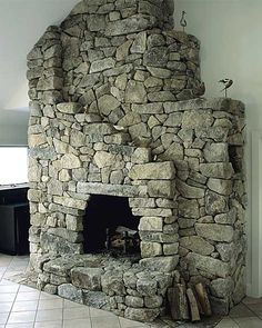 lew french fireplace-love the movement through the stone