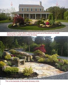 Circle Drive Landscaping Ideas With Pavers | RE: Help  Circular Driveway  Planting Bed