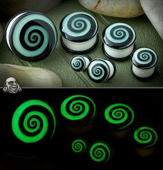 Single Flare Glow In The Dark Swirl Plugs