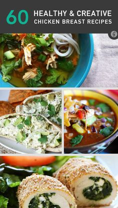 60 Awesome Ways to Spice Up Boring Chicken Breasts #healthy #chicken #breasts #recipes