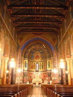 James, Lakewood, Ohio: Sicily Goes Midwest Beautiful Dark Art, Beautiful World, Beautiful Places, Cleveland Ohio, Cleveland Rocks, Lakewood Ohio, Old Churches, Catholic Churches, Stained Glass Church