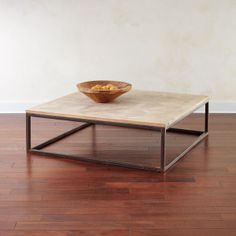 a square coffee table! yay! it's hard to find them to match the scale and shape of our sectional