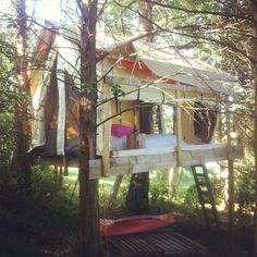Wall Tent Platform Build Backyard Cabin Pinterest